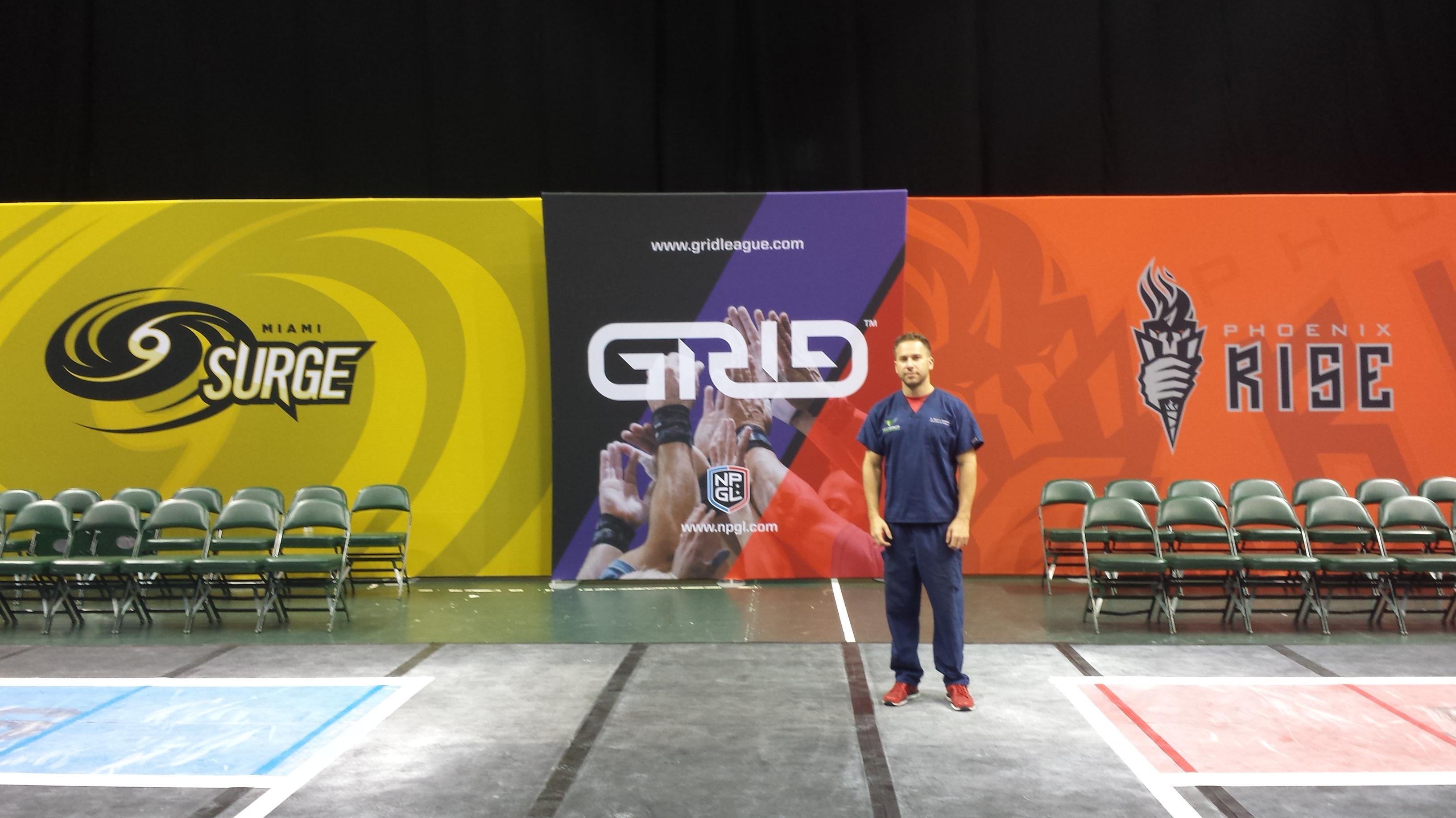 Miami Surge vs. Phoenix Rise GRID League Match at BankUnited Center.